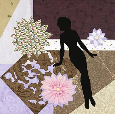 Little Girls Room Mixed Media - Purple Paper Doll by Katia Von Kral