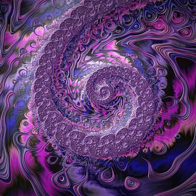 Framed Art Digital Art - Purple Passion by Amanda Moore