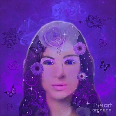 Digital Art - Purple Passion by Diamante Lavendar