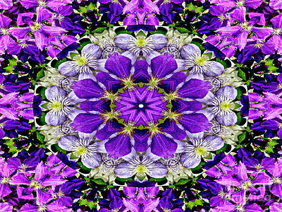 Purple Passion Floral Design Art Print