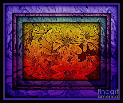 Photograph - Purple Passion Flower Power - Stained Glass Series by Miriam Danar
