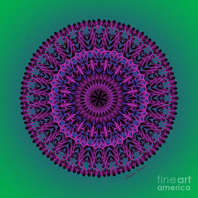 Digital Art - Purple Passion by Heather Schaefer