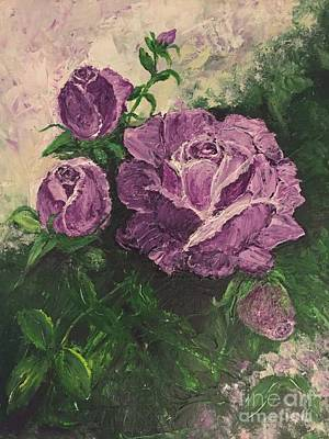 Painting - Purple Passion by Lucia Grilletto