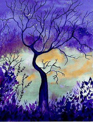 Painting - Purple Passion Night by Brenda Owen