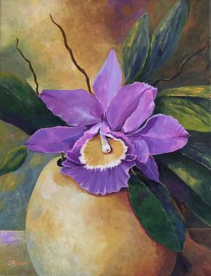 Painting - Purple Passion Orchid by Jane Ricker