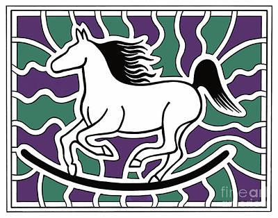 Rocker Drawing - Purple Pastella by Peter Paul Lividini