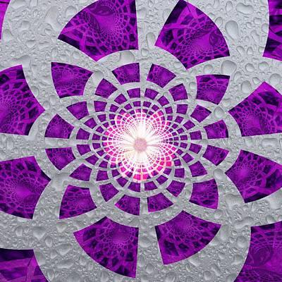 Art Print featuring the digital art Purple Patched by Amanda Eberly-Kudamik