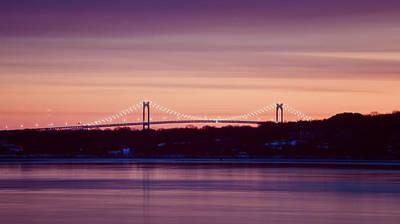 Purple Pell Bridge Panorama Art Print