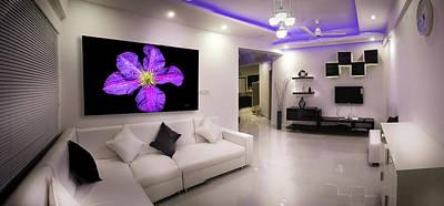 Photograph - Purple Petals In Room by Bill Posner