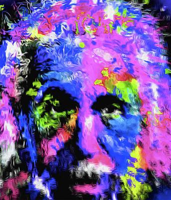 Mixed Media - Purple Picasso by Nicholas Nixo