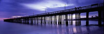 Purple Pier Print by Steve Munch