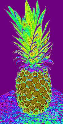 Digital Art - Purple Pineapple by Jeanne Forsythe