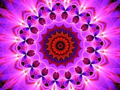 Purple, Pink And Orange Kaleidoscope Art Print