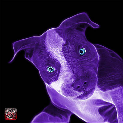 Painting - Purple Pitbull 7435 - Bb by James Ahn