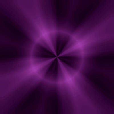 Digital Art - Purple Points by John Krakora