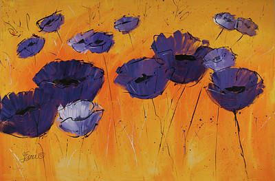Painting - Purple Poppies by Terri Einer