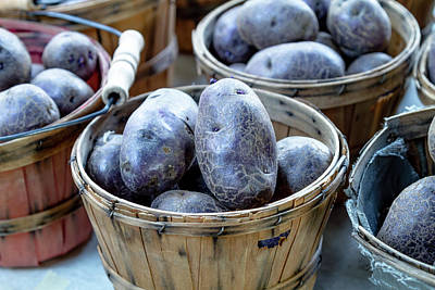 Photograph - Purple Potatoes by Teri Virbickis