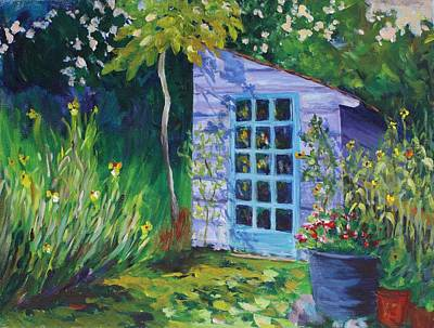 Painting - Purple Potting Shed by Tara Moorman