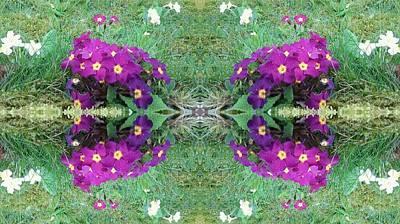 Photograph - Purple Power Flowers by Julia Woodman