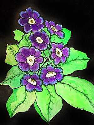 Painting - Purple Primrose by Anne Sands