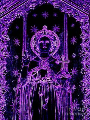 Digital Art - Purple Prophet by Ed Weidman