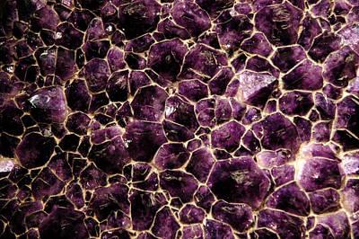 Purple Quartz  Amethyst Art Print