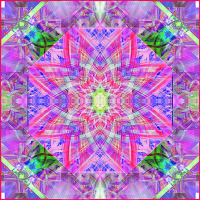 Block Quilts Digital Art - Purple Quilt Block by Mary H Sesniak