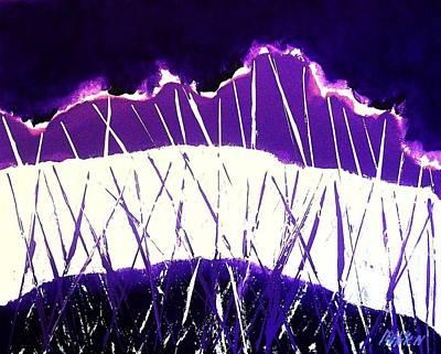 Purple Rain Abstract Art Print by Marsha Heiken