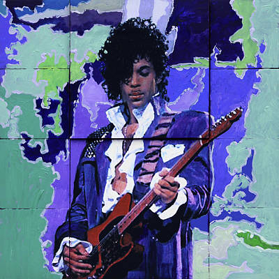 Painting - Purple Rain And Prince by John Lautermilch