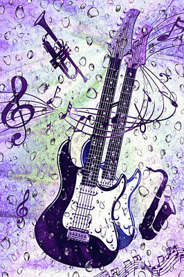 Digital Art - Purple Rain By Kaye Menner by Kaye Menner