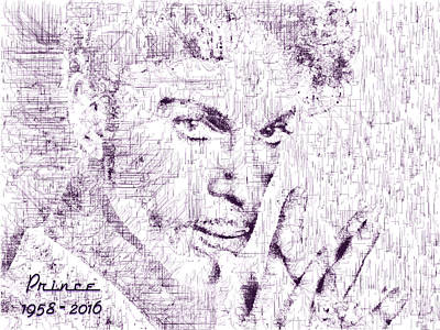 Digital Art - Purple Rain By Prince by ISAW Gallery