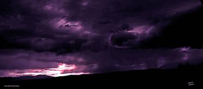 Photograph - Purple Rain Clouds Majesty by Diane C Nicholson