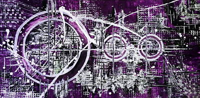 Flo Painting - Purple Rain by De Flo