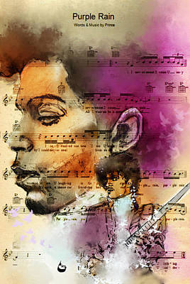Digital Art - Purple Rain Forever by Howard Barry