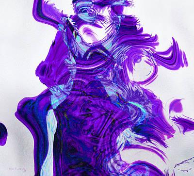 Rain Painting - Purple Rain by Ken Figurski