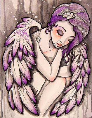 Lilac Drawing - Purple Rain by Margie Forestier