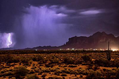 Photograph - Purple Rain Over The Superstitions  by Saija Lehtonen