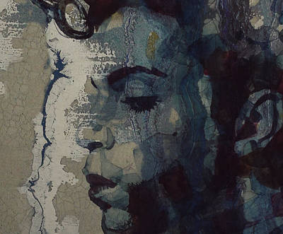 Portrait Mixed Media - Purple Rain - Prince by Paul Lovering