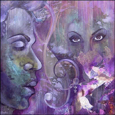 Musicians Paintings - Purple Rain by Shadia Derbyshire