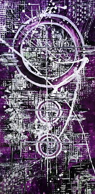 Flo Painting - Purple Rain Vertical by De Flo