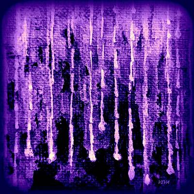 Painting - Purple Rain by VIVA Anderson