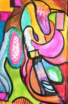Painting - Purple Raindrop by Victoria Hasenauer