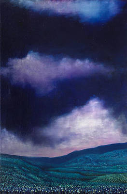 Painting - Dreaming In Purple by Maria Rizzo