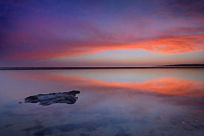 Tarifa Photograph - Purple Reflections At The Sea by Guido Montanes Castillo