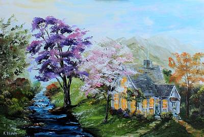Painting - Purple Reflections by Kevin Brown