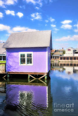 Art Print featuring the photograph Purple Reflections by Mel Steinhauer
