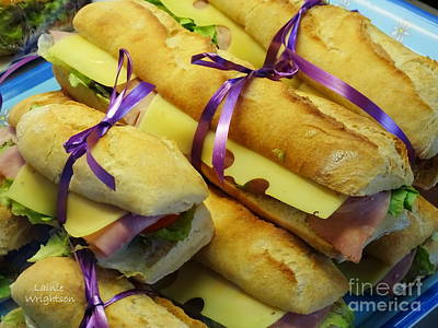 Photograph - Purple Ribboned Sandwiches by Lainie Wrightson