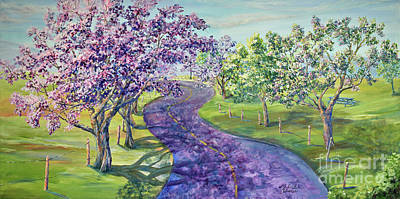 Purple Road - Springtime Art Print