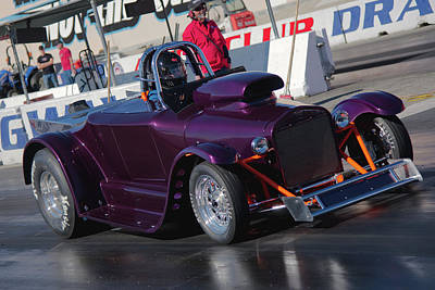 Photograph - Purple Roadster by Richard J Cassato