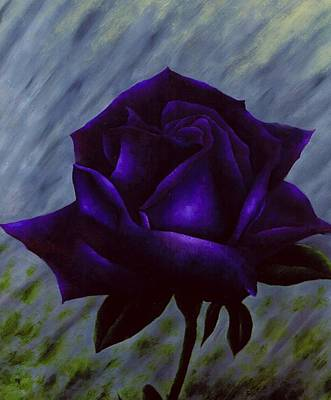 Purple Rose Art Print by Brandon Sharp
